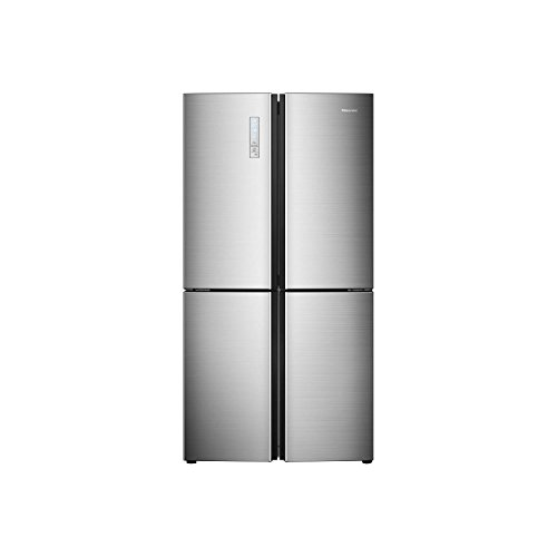 Hisense RQ689N4AC1 American Style Four Door Frost Free Fridge Freezer - Stainless Steel Best Price and Cheapest