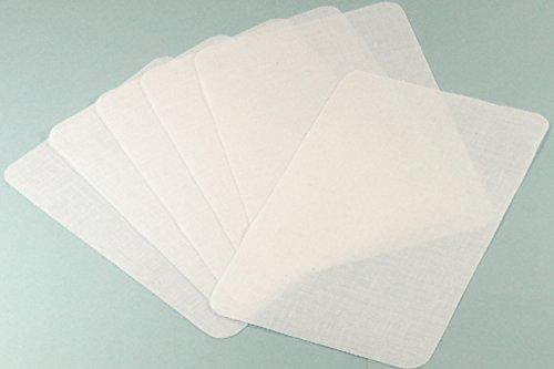 Bügelflicken 4 Stück Weiß -K&B Vertrieb- Aufbügler Jeansflicken Aufnäher Reparaturflicken Flicken 109