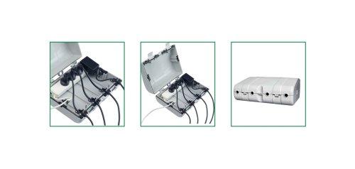 Bachmann 904.100 Safebox IP64 mit 6 Kabeldurchführungen