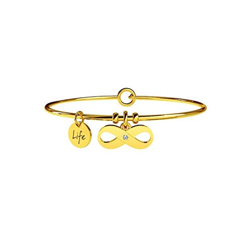 KIDULT LIFE Collection Bracciale in acciaio pvd gold INFINITO 231679