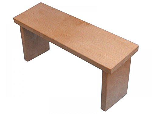 medesign Meditationsbänkchen Holz unbehandelt, 1 Stück
