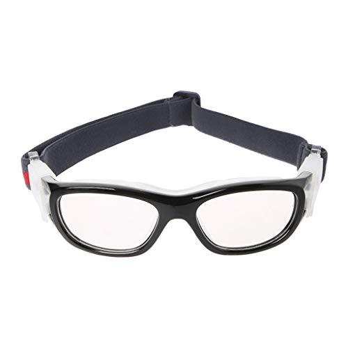 ruiruiNIE Kinder Outdoor-Sportbrillen Schutzbrillen Basketball Fußball Explosionssichere Brille Fahrradglas - Schwarz