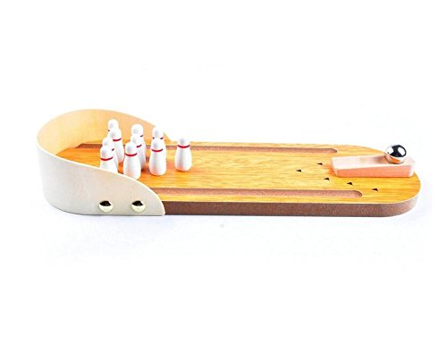 EEvER Perfektes Design Mini Holz Desktop Tabletop Bowling Spiel Home Office Spielzeug für Erwachsene und Kinder (Erwachsene Für Home-design-spiele)