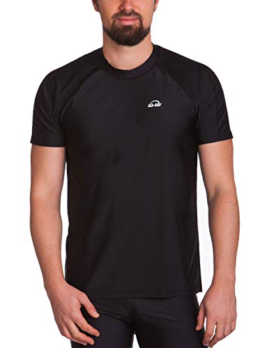 iQ-Company Herren T-Shirt UV-Schutz 300 Loose Fit Watersport 94,schwarz(black),XXL (56) - Kleidung Resistent Kälte