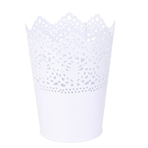 leisial-solid-color-flower-pot-vase-plant-container-home-decorationwhite