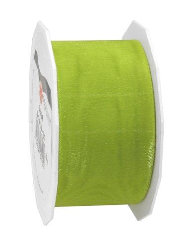 Organzaband Sheer limette-grün B40mm (Sheer Grün)