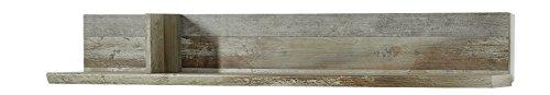 Stella Trading Bonanza Wandboard, Holz, braun, (B/H/T) 130 x 20 x 22 cm
