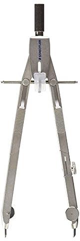 Staedtler compas technique Mars professional, haute qualité, tout métal, réglage rapide et micrométrique, coffret avec adaptateurs et rallonge externe, 555