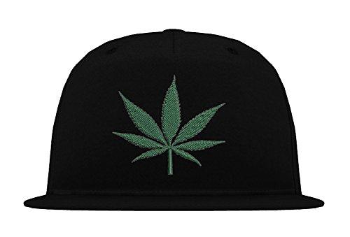 TRVPPY 5-Panel Snapback Cap Modell Cannabis, Weiß-Schwarz, B610