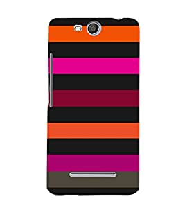 Dashing Color Pattern 3D Hard Polycarbonate Designer Back Case Cover for Micromax Canvas Juice 3+ Q394 :: Micromax Canvas Juice 3Plus Q394