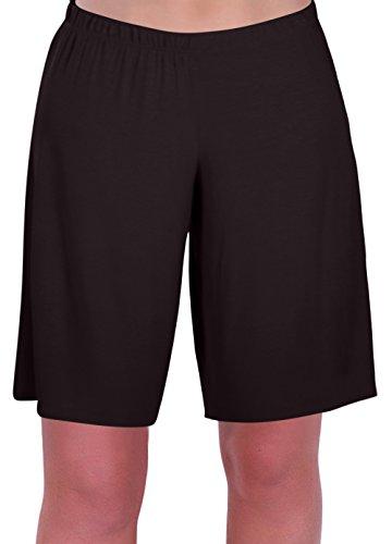 EyeCatch - Stern Damen Jersey Entspannt Komfort Elastisch Flexi Strecken Damen Kurze Hose Plus Größen (Strampelanzug Günstige Damen)
