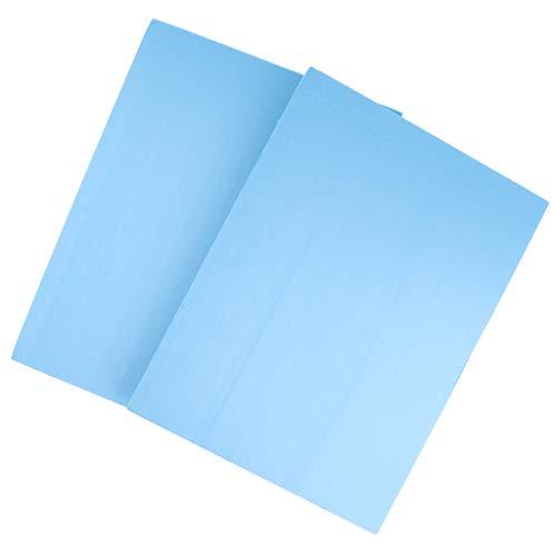 MagiDeal 2 Pièces Panneau de Mousse de Haute Densité PVC Plaque de Base Modèle Plate-forme - Bleu - 29.5x39.5x4 cm