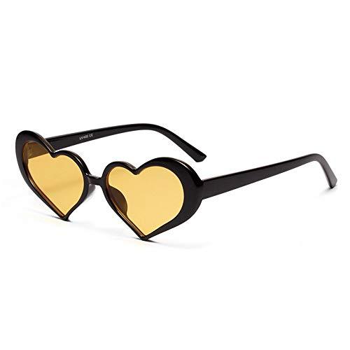 ZHAOSHUNAN Sonnenbrillen Damen-Nette Rosa Sonnenbrille-Frauen Transparente Ozean-Objektiv-Herz-Geformte Sonnenbrille, D