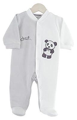 Kinousses - Pijama de terciopelo para beb&eacute, con diseño de búho