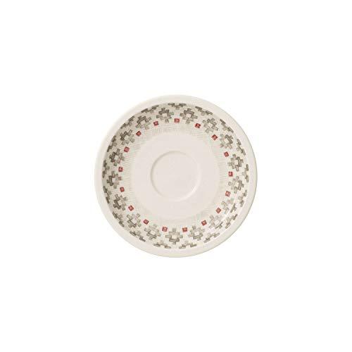 Villeroy & Boch Artesano Montagne Soucoupe pour tasse à moka/expresso, 12 cm, Porcelaine Premium, Blanc/Gris