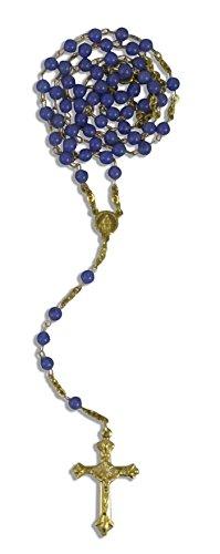 Agate – Chapelet Bleu Double dans un étui 35 cm