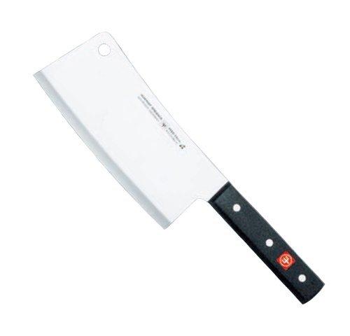 WÜSTHOF Hackmesser Gewicht 0,46kg Gourmet 4680-16cm Plus 1 x SCHARFsinnig Pizza- und Steakmesser - 14 Burr