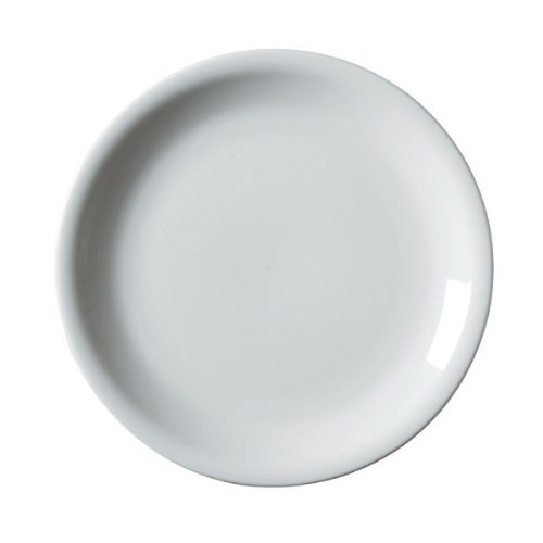 Royal Genware NARROW RIM PLATE 28cm/ 6, White Plates, Dinner Plates, Porcelain Plates, Commercial Quality Tableware for Domestic and Catering Use. GET COOKING! by Catering Store Direct Ltd