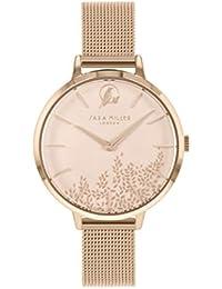 Sara Miller Leaf Collection SA4022 - Reloj con Correa de Malla bañada en Oro Rosa