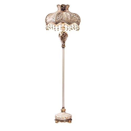 Lampe de plancher Champagne couleur Continental sculpté Vertical lampadaire, LED rétro chambre salon chevet lampe de mariage/E27 * 1 A+