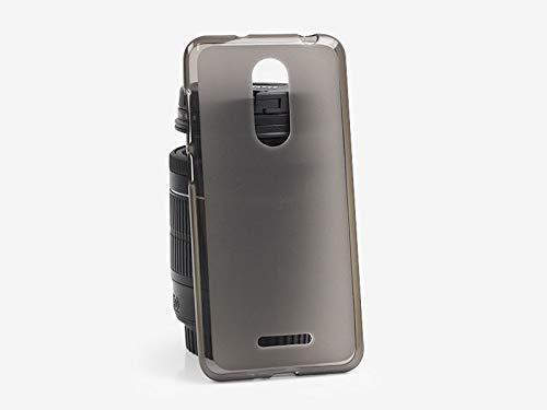 etuo Coolpad Torino S - Hülle FLEXmat Case - Schwarz - Handyhülle Schutzhülle Etui Case Cover Tasche für Handy