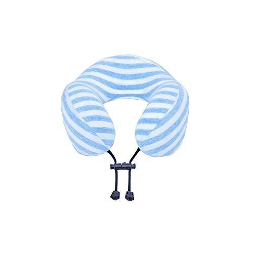Siesta Streifen (Huayer 378/5000 Reisekissen Auto Kopfstütze Lendenwirbel Blaue Streifen Siesta Kissen Reisekissen U Kissen Nackenkissen Speicher Kissen Anti-Rutsch-Schnalle)