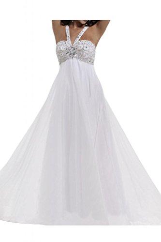 Toscane mariée s'empire cristal-chiffon abendkleider les demoiselles d'honneur party ballkleider solide Blanc - blanc
