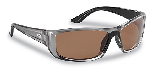 Flying Fisherman Buchanan Polarisierte Sonnenbrille, Unisex, Crystal Gunmetal Frames/Copper Lens
