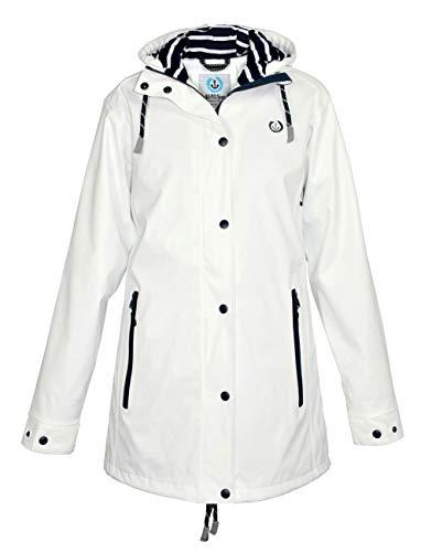 MADSea Damen Regenmantel Friesennerz Weiß, Farbe:weiß, Größe:50