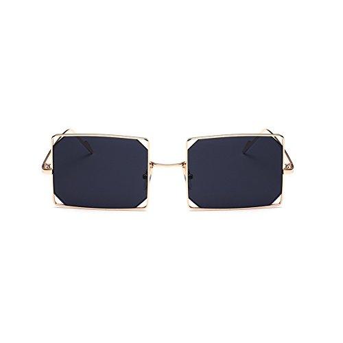 NUVOLA Sonnenbrille Brille UV Damen Herren Fashion Quadrat Linse blau Bilderrahmen Gold gutes Geschenk Valentinstag