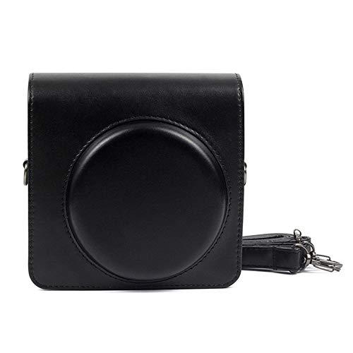 Shopizone® Vintage PU Leather Compact Case for Fujifilm Instax Square SQ6 Camera Bag with Adjustable Shoulder Strap - Black
