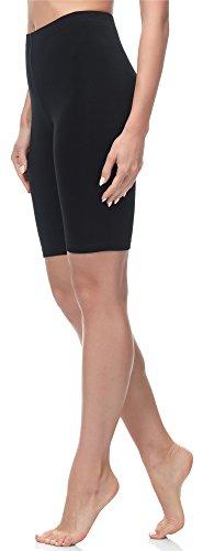 Merry Style Leggings Corti Pantaloncini Donna MS10-200 (Nero, 4XL)