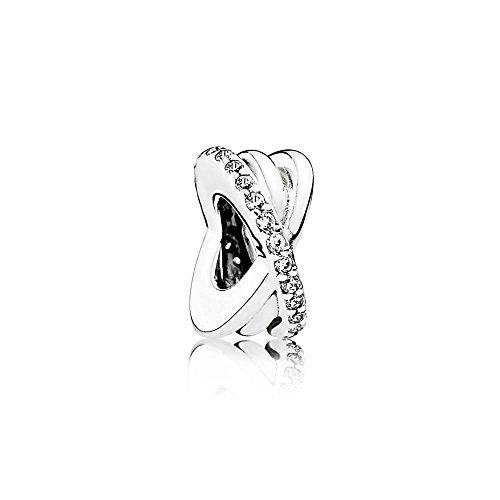 Pandora Moments Funkelnde & Polierte Linien Zwischenelement Sterling Silber 791994CZ