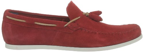 Base London Joplin NY01203, Herren Mokassins Rot - Rouge (Suede Red)