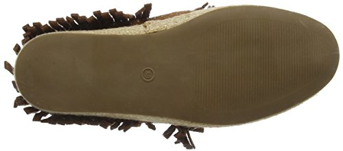 La Strada Tan Coloured Suede Boots With Frings Damen Sneakers Braun (0214 - cow suede tan)