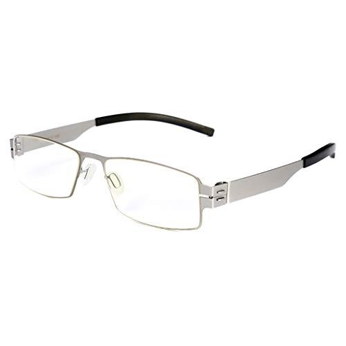 Lesebrille Fashion Männer und Frauen, Retro rechteckigen Federscharnier Leser, 3 Farben, Brille +1,50 lesen