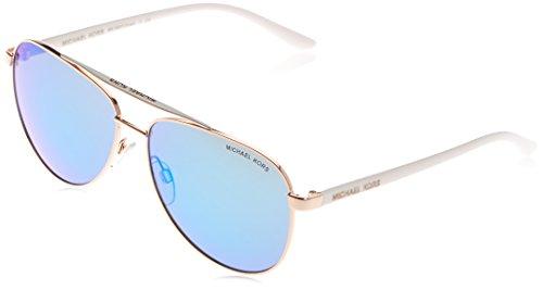 Michael Kors damen Sonnenbrille MK5007 Hvar, (Gold 104525), One Size (Herstellergröße: 59)