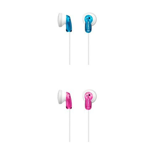 Sony mdr-e9lp cuffie auricolari, 104 db, 16 Ω, 100 mw, azzuro + sony mdr-e9lp cuffie auricolari, 104 db, 16 Ω, 100 mw, rosa