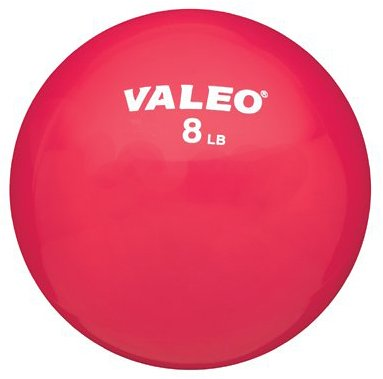 Valeo 8-Pound Fitness Ball with Soft Vinyl Covering and Included Exercise Chart, 5-Inch Diameter (Fitness-ball-chart)