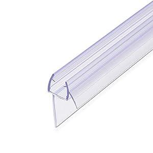 Navaris junta de recambio para ducha – Repuesto de PVC para puerta de cristal con grosor de 8MM con soporte de goteo en ángulo de 45 grados – 80CM