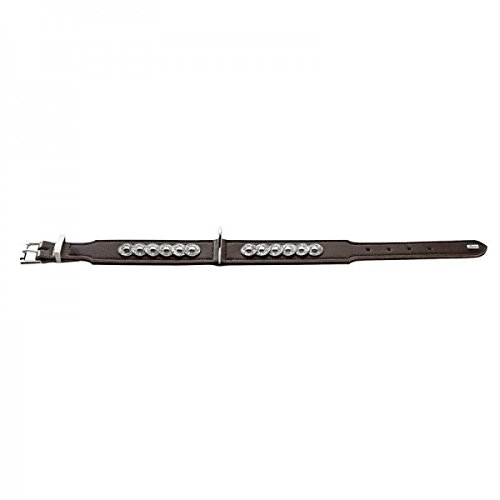 hunter-basic-rom-split-leather-collar-60-cm-x-large-brown-nappa-black
