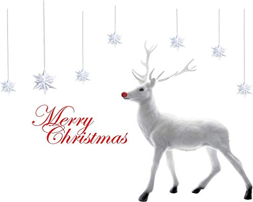 TMEOG Navidad Pegatinas Ciervo Desmontable Inicio Vinilo Ventana Engomadas De La Pared De La Etiqueta De La DecoracióN