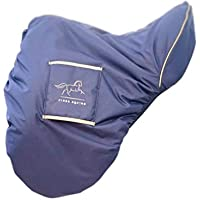 Finer Equine - Funda para sillín de doma (forro de piel de oveja sintética, resistente al agua, tamaño grande)