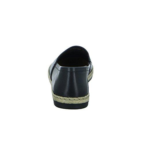 BOXX WS-142R01 Damen Slipper Halbschuh sportlicher Boden Casual Schwarz (Schwarz)