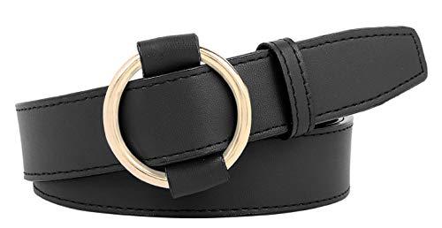 Zacharias Women's Faux Leather Belt Black Free Size B-2