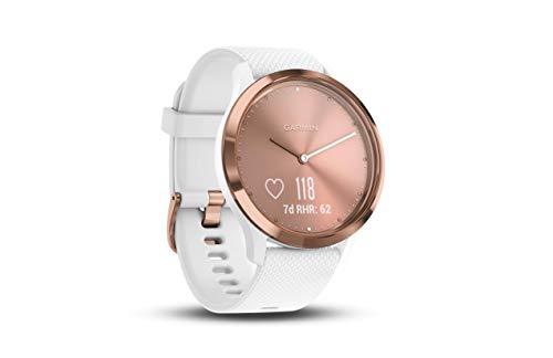 Garmin Vivomove HR Smart Watch (White/Rose Gold)