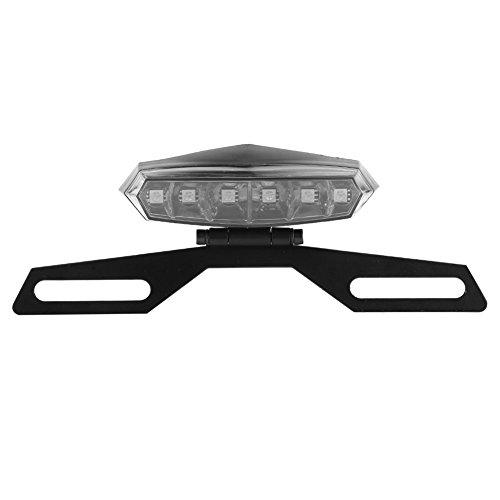 Luce freno posteriore per moto, fanale posteriore a LED per motocicli con staffa per supporto targa