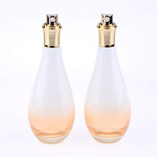 Sharplace 2 pezzi bottiglie da 60ml di viaggio trasparente vuoto pompa spray bottiglie in vetro per shampoo, condizionatore, lozione, articoli da toeletta - come descritto, 150ml