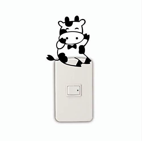 Maus Silhouette Lichtschalter Aufkleber Cartoon Ratte Vinyl Wandtattoo Schlafzimmer/Wohnkultur 3 Stücke