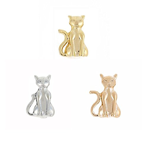 RicVanMur Charm - Cat / Katze passend für Charmband / Mesh Armband (Gold)